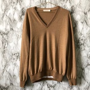 Bronze Wool V-Neck Sweater *read description*